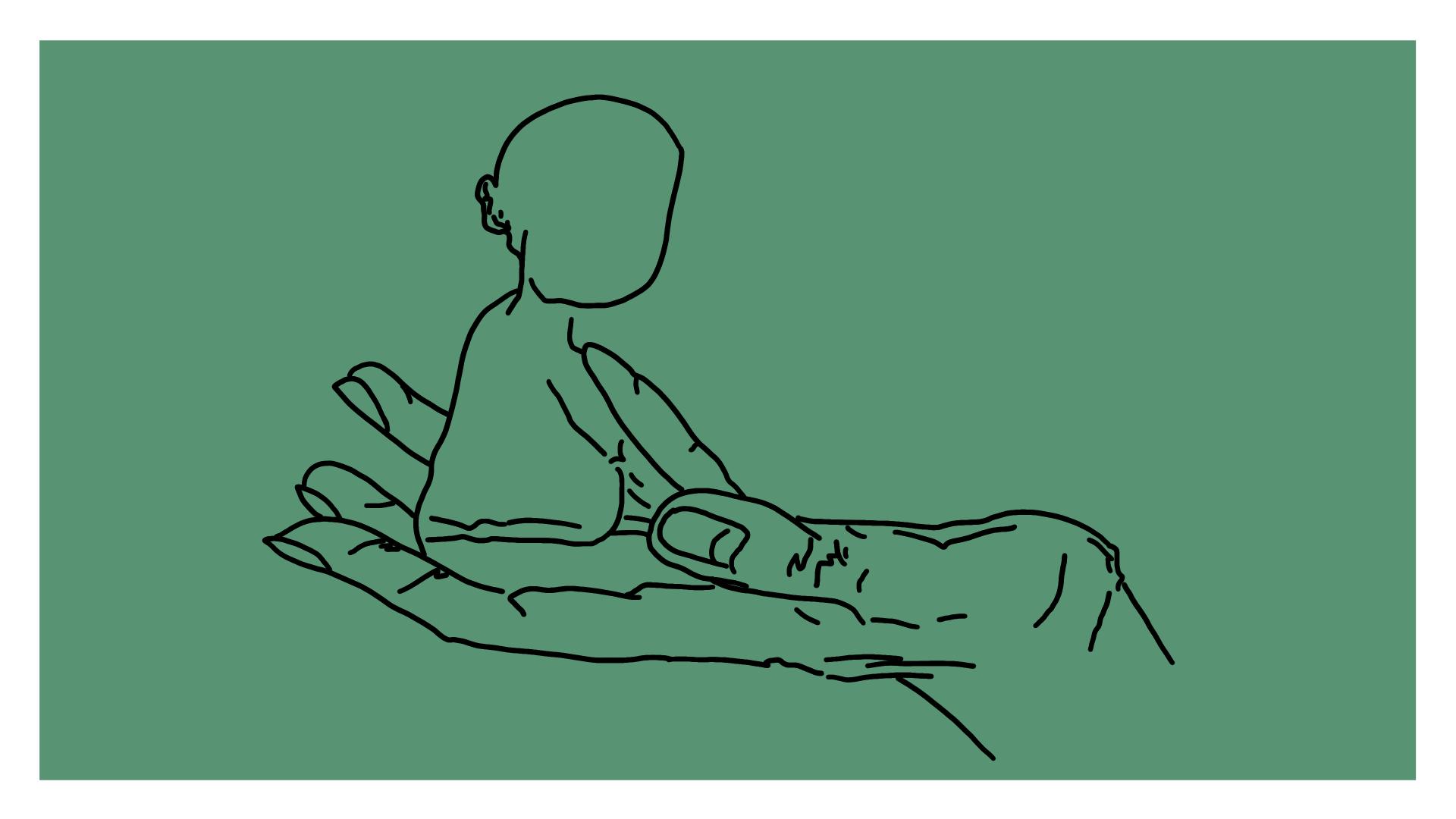 Beitragsbild - eine Hand auf der ein Baby sitzt
